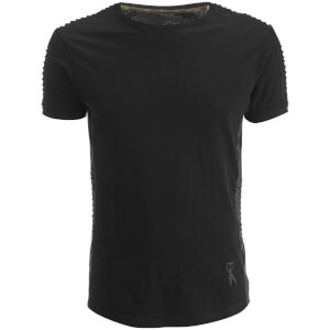 Ringspun Men's Honda Ribbed Shoulder T-Shirt - Faded Black