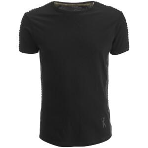 T-Shirt Homme Épaules Texturées Honda Ringspun - Noir