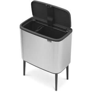 Brabantia Bo Touch Bin 11 + 23L - Matt Steel Fingerprint Proof
