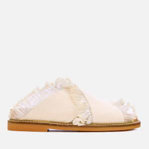 Ganni Women's Beth Flat Sandals - Egret