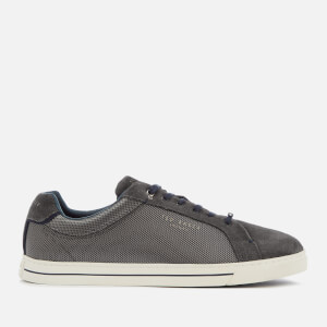 Ted Baker Men's Eeril Suede/Textile Low Top Trainers - Dark Grey