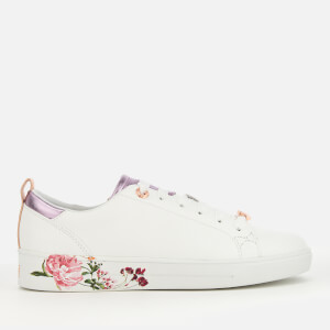 Ted Baker Women's Giellip Leather Cupsole Trainers - White/Serenity