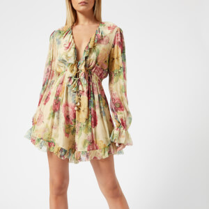 Zimmermann Women's Melody Floating Playsuit - Taupe Floral