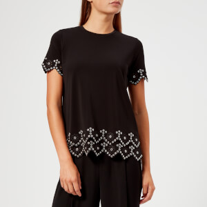 MICHAEL MICHAEL KORS Women's Embellished Crew Top - Black