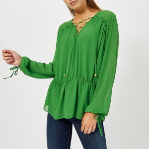 MICHAEL MICHAEL KORS Women's Lacing Top - Green