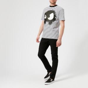 McQ Alexander McQueen Men's Dropped Shoulder Mad Chester T-Shirt - Black/White Stripes: Image 3