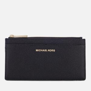 MICHAEL MICHAEL KORS Women's Mercer Pebble Large Slim Card Case - Black
