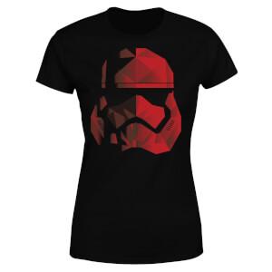T-Shirt Femme Casque Stormtrooper Effet Cubiste - Star Wars - Noir