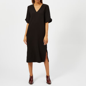 Ganni Women's Clark Midi Dress - Black