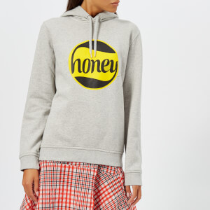 Ganni Women's Lott Isoli Honey Bee Hoody - Paloma Melange