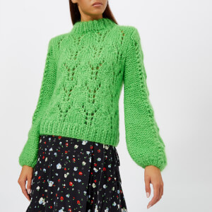 Ganni Women's The Julliard Mohair Jumper - Green