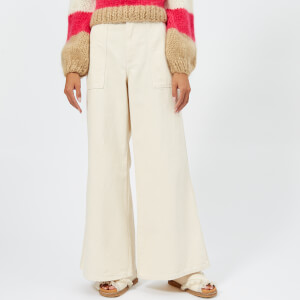 Ganni Women's Bluebell Trousers - Vanilla Ice
