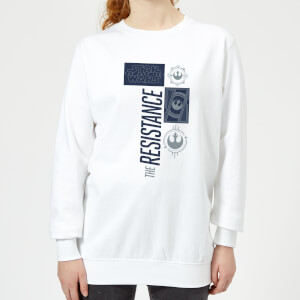 Star Wars The Resistance White Women's Sweatshirt - White