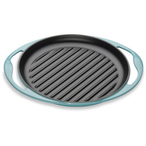 Le Creuset Cast Iron Round Skinny Grill - 25cm - Teal