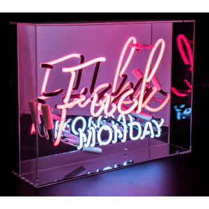"Acryl Neon ""F*ck Monday"" – Rosa"
