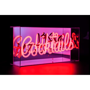 Acrylic Box Neon Cocktails - Red
