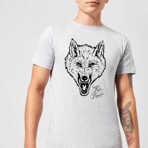 Rum Knuckles Wolf T-Shirt - Grey