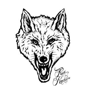Rum Knuckles Wolf Sweatshirt - White
