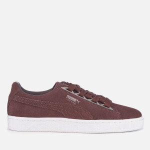 Puma Women's Suede Jewel Metallic Trainers - Peppercorn