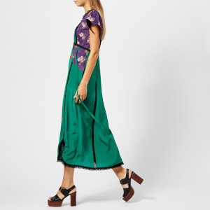 Coach 1941 Women's Lace Embroidered Dress - Emerald Green: Image 3