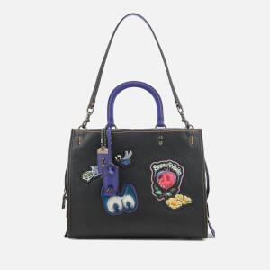 Coach 1941 Women's Disney X Coach Dark Fairytale Patches Rogue Bag - Black