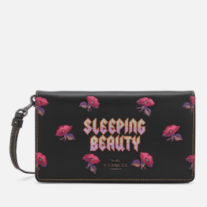 Coach 1941 Women's Disney X Coach Sleeping Beauty Foldover Crossbody Clutch Bag - Black/Magenta