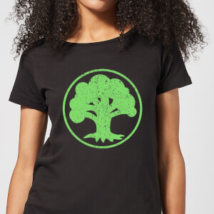 Camiseta Magic The Gathering Maná Verde - Mujer - Negro