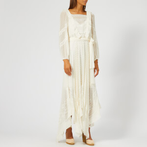 Zimmermann Women's Unbridled Hanky Midi Dress - Pearl