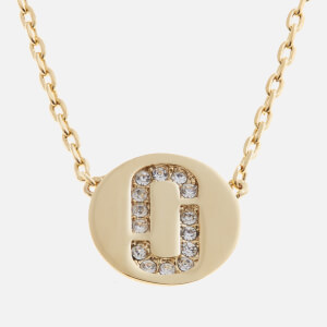 Marc Jacobs Women's Double J Pave Pendant - Crystal/Gold