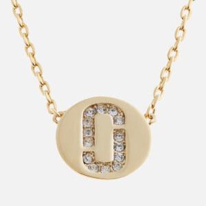 Marc Jacobs Women's Double J Pave Pendant - Crystal/Gold