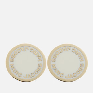 Marc Jacobs Women's Logo Disc Studs - Cream