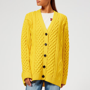 Marc Jacobs Women's Long Sleeve Cable Cardigan - Yellow