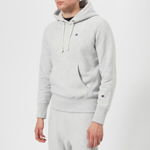 Champion Men's Hooded Sweatshirt - Grey Marl