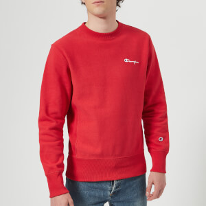 Champion Men's Crew Neck Sweatshirt - Red