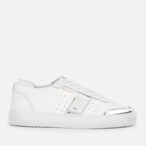 Axel Arigato Women's Dunk Leather Trainers - White/Silver