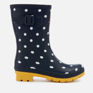 Joules Women's Molly Mid Height Wellies - French Navy Spot