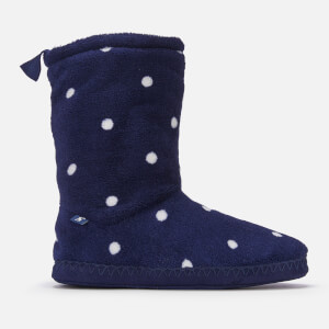 Joules Women's Homestead Fleece Lined Slipper Socks - French Navy Spot