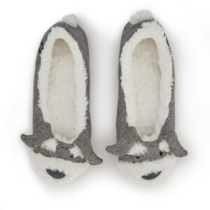 Joules Women's Ballet Pup Slippers - Light Grey