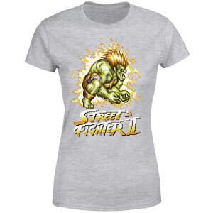 Street Fighter Blanka 16-bit Women's T-Shirt - Grey