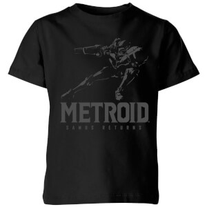 Nintendo Metroid Samus Returns Kinder T-Shirt - Schwarz