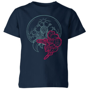 Nintendo Super Metroid Samus And Mother Brain Kid's T-Shirt - Navy