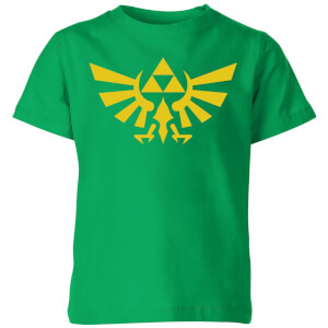 Nintendo The Legend Of Zelda Hyrule Kids' T-Shirt - Kelly Green