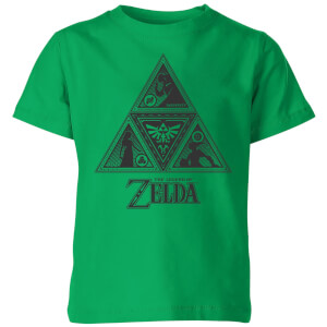 Nintendo The Legend Of Zelda Triforce Kid's T-Shirt - Kelly Green