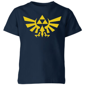 Nintendo The Legend Of Zelda Hyrule Kinder T-Shirt - Navy Blau