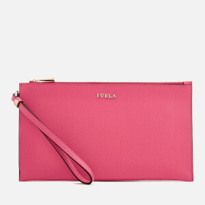 Furla Women's Babylon Extra Large Envelope Clutch Bag - Pink