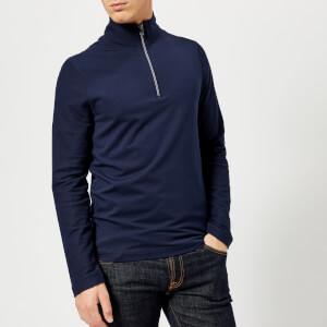Michael Kors Men's Quarter Zip Knitted Jumper - Midnight