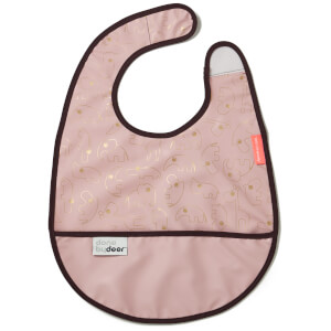 Done by Deer Contour Bib with Velcro - Gold/Powder