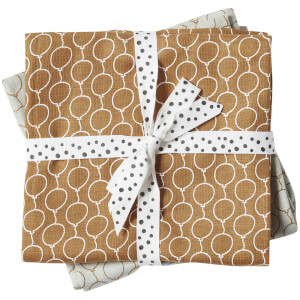 Done By Deer Muslin Cloth 2-Pack Balloon - Gold