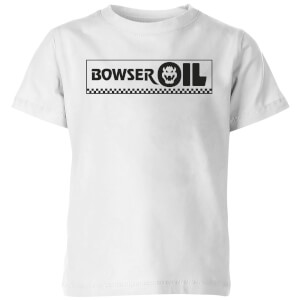 Nintendo Super Mario Bowser Oil Kid's T-Shirt - White