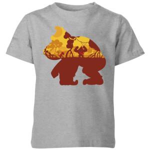T-Shirt Nintendo Donkey Kong Silhouette Mangrove - Grigio - Bambini